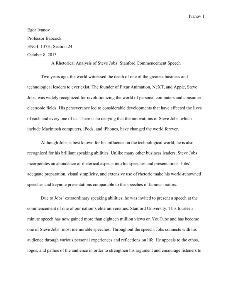 A Healthy Mind In A Healthy Body Essay  Uk Essay Service also Essay Racial Discrimination Rhetorical Analysis Of Steve Jobs Stanford Commencement Speech Techniques Of Essay Writing