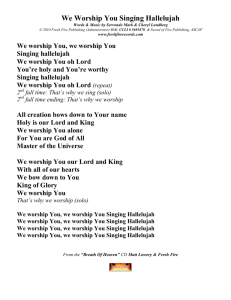 We Worship You Singing Hallelujah Lyrics