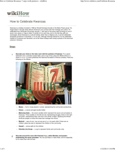 How to Celebrate Kwanzaa: 7 steps (with pictures)