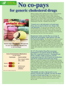 No co-pays for generic cholesterol drugs!