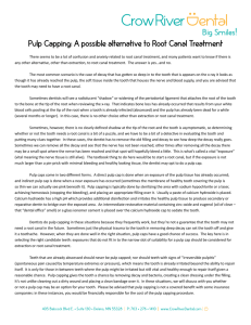 Pulp Capping: A possible alternative to Root Canal Treatment