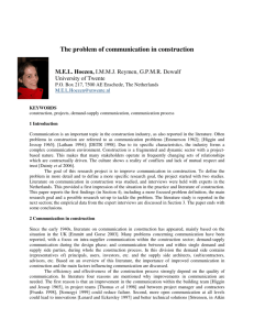 The problem of communication in construction