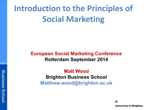 - World Social Marketing Conference