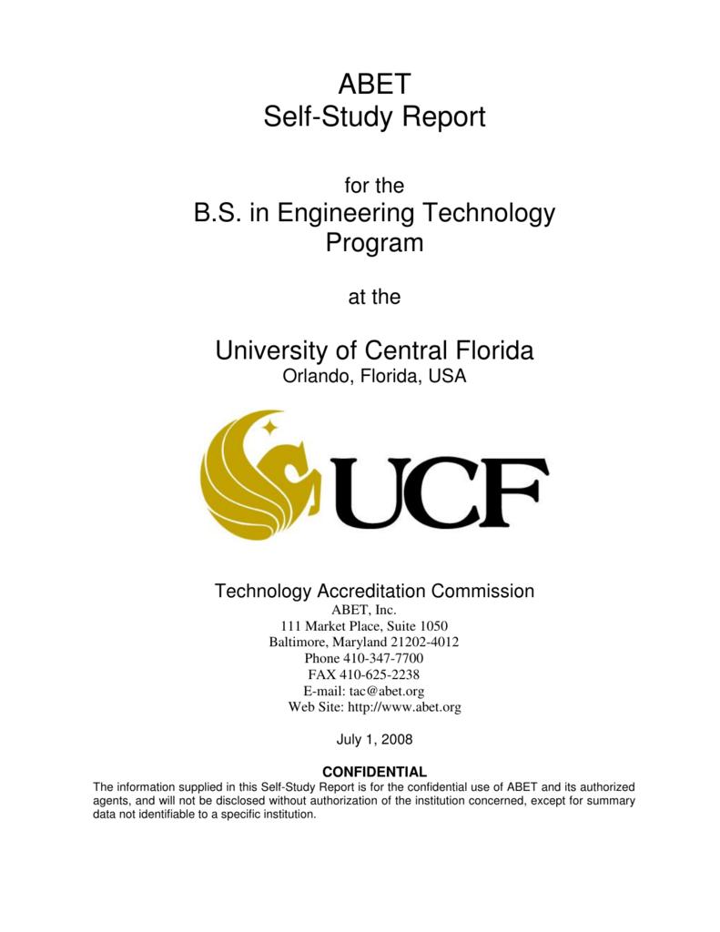 ABET Self-Study Report - Engineering Technology Department Wiki
