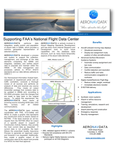 Supporting FAA's National Flight Data Center