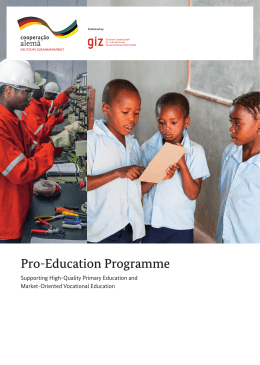 Pro-Education Programme - Supporting High-Quality Primary
