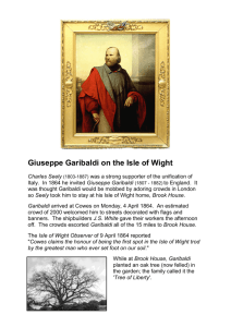 Giuseppe Garibaldi on the Isle of Wight