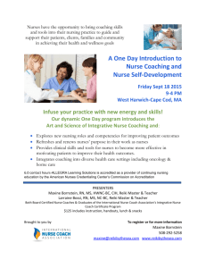 A One Day Introduction to Nurse Coaching and
