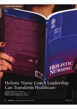 Holistic Nurse Coach Leadership Can Transform Healthcare