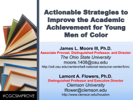 James L. Moore III, Ph.D. The Ohio State University moore.1408