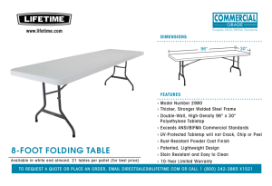 8-FOOT FOLDING TABLE