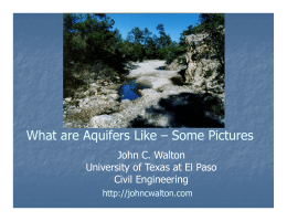 Pictures of Aquifers