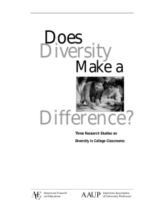 Does Diversity Make a Difference? Three Research Studies