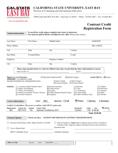 Contract Credit Registration Form