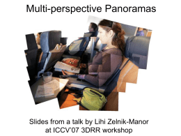 Multi-perspective Panoramas