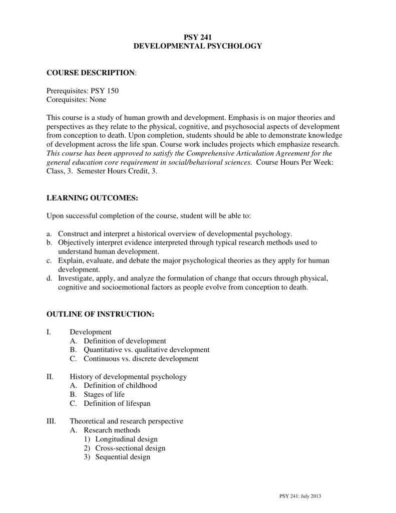 developmental psychology paper