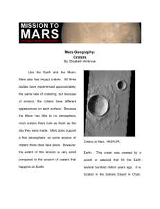 Mars Geography: Craters