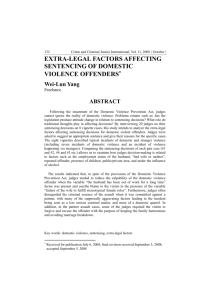 extra-legal factors affecting sentencing of domestic violence offenders