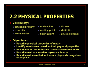 2.2 Physical Properties PPT