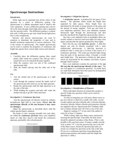 Spectroscope Instructions