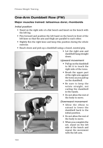 One-Arm Dumbbell Row (FW)