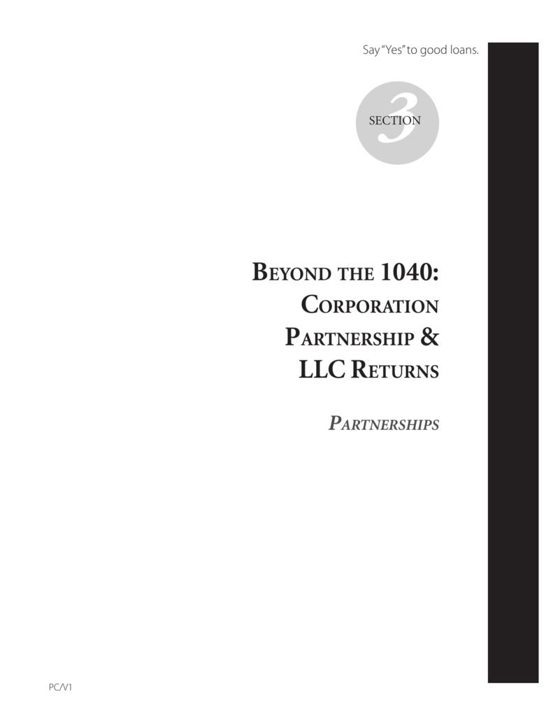 Bizreturns Manual Section 3 1065 Returns
