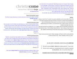 sermon notes - ParkwayHills