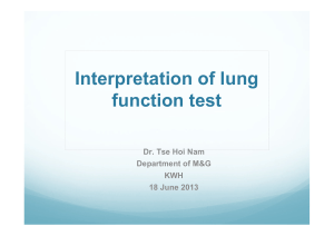 Interpretation of lung function test