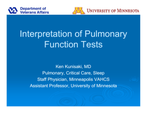 Interpretation of Pulmonary Interpretation of Pulmonary Function Tests