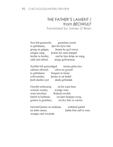 THE FATHER'S LAMENT / from BEOWULF
