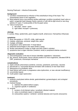 Nursing Flashcard - Infective Endocarditis - Af