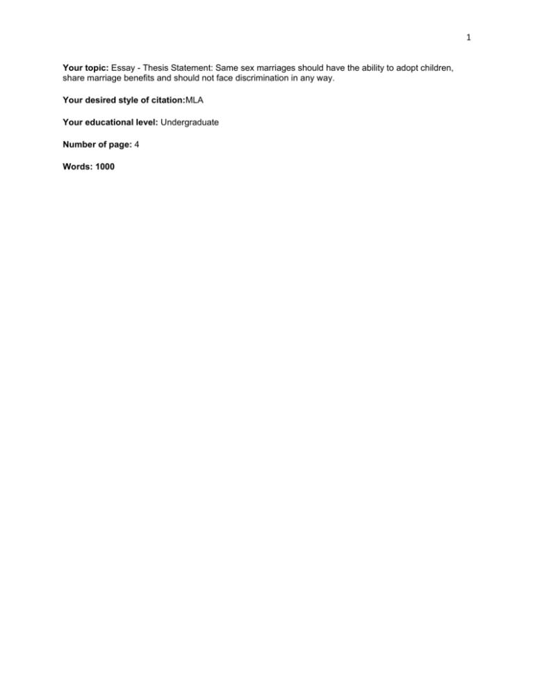 Pro gay adoption thesis esl custom essay ghostwriters websites for college