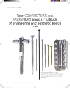 New CONNECTORS and FASTENERS meet a multitude of