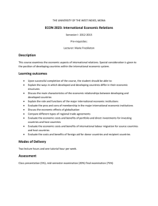 ECON 2023: International Economic Relations Description Learning