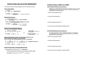 Day 2 _ APES Population Calculation Worksheet