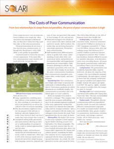 The Costs of Poor Communication