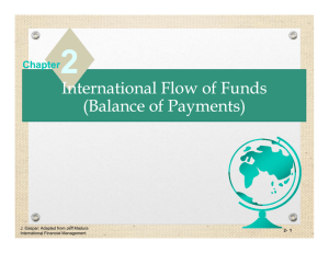 International Flow of Funds (Balance of Payments) International