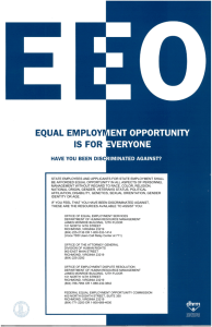 Equal Employment Opportunity Is For Everyone