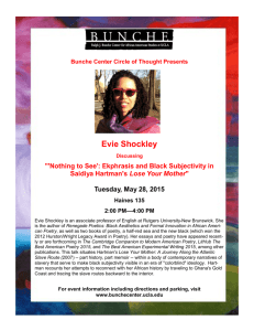 Evie Shockley - Ralph J. Bunche Center for African American