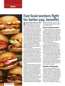 News: Fast food workers fight for better pay, benefits