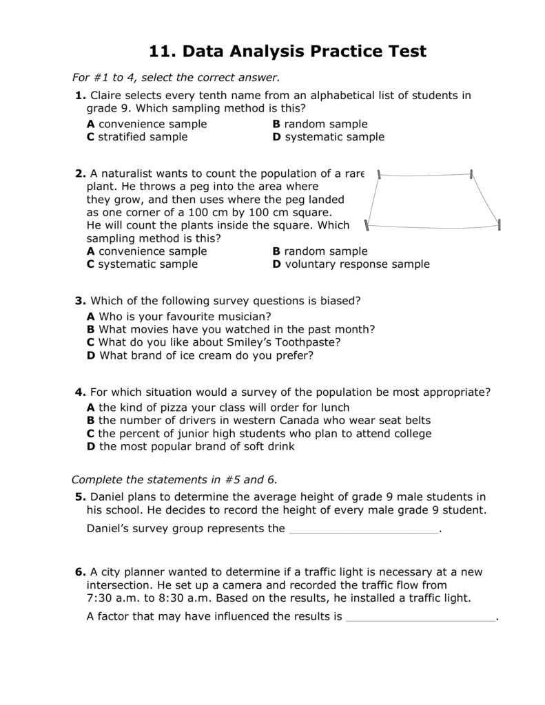 Chapter 11 Practice Test
