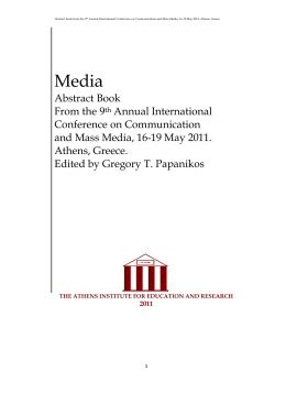2011 - Athens Institute for Education & Research