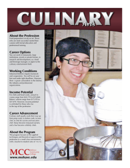 Culinary Arts Booklet - Mohave Community College