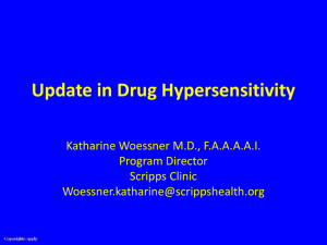 Update in Drug Hypersensitivity