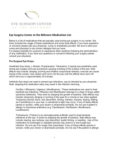Eye Surgery Center at the Biltmore Medication List