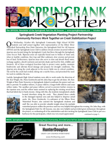 Park Patter - October 2014 - Springbank Park For All Seasons