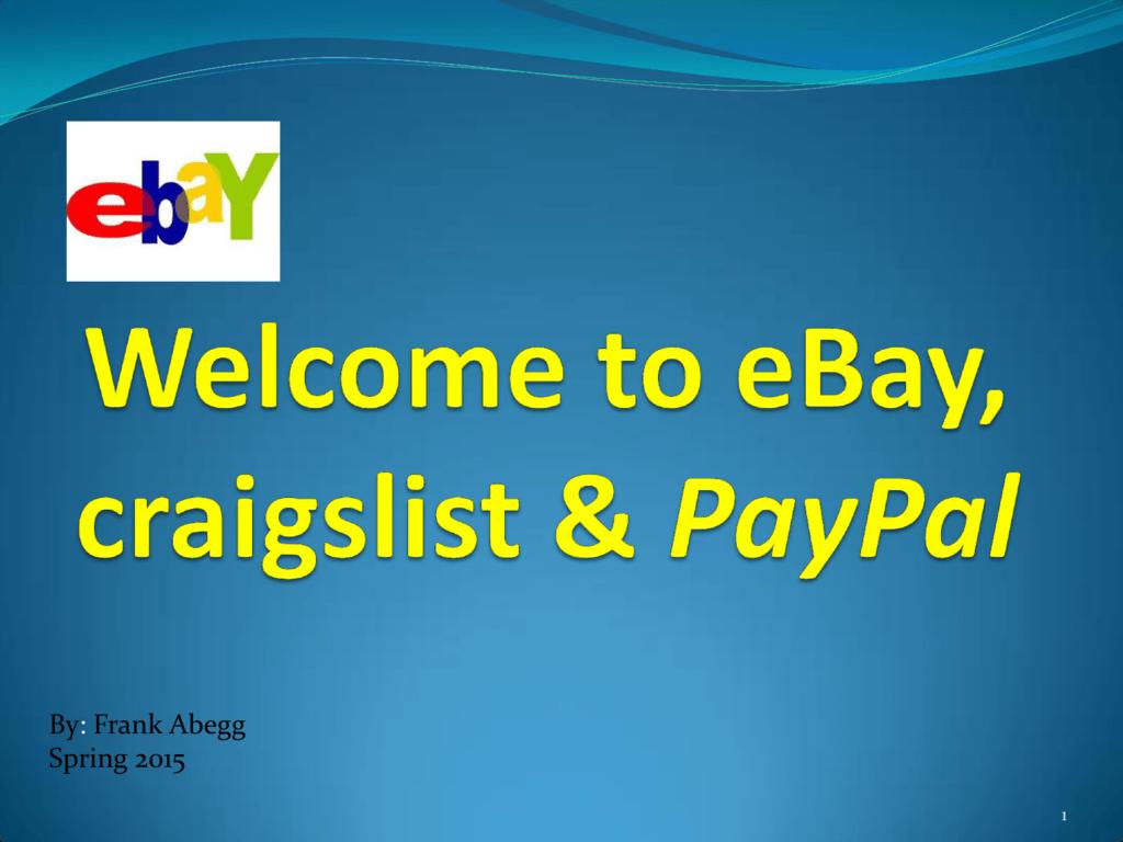 What is eBay? - University of Alaska Fairbanks