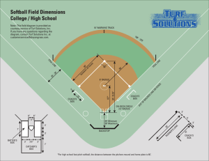 Softball Field Dimensions- HS & College