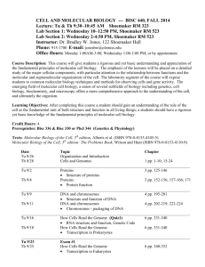 AP Biology Course Syllabus –2002/2003