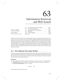 Information Retrieval and Web Search,  - Carl Meyer
